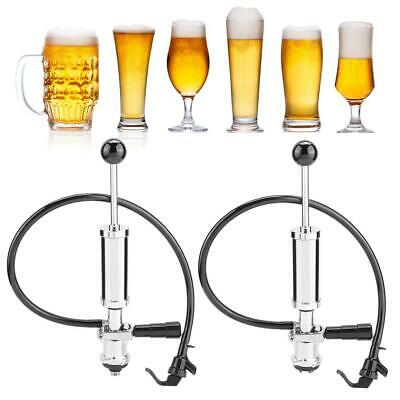 Draft Beer Picnic Tap Party Pump Heavy Duty Beer Keg Tap Pump W/Squeeze Trigger • 46.30£
