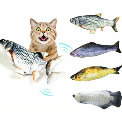 AU18.99 • Buy 12'' USB Electric Dancing Fish Kicker Cat Toy Wagging Realistic Moves Plush
