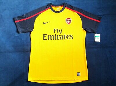 BNWT Arsenal FC Season 2008-2009 Away Player Issue Short Sleeve Shirt Size XL • 89.99£