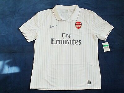 BNWT Arsenal FC Season 2009-2010 3rd Player Issue Short Sleeve Shirt Size XL • 89.99£