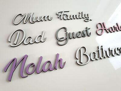 £2.75 • Buy Personalised Script Names Letters Words Colours MDF Book Art Wooden Wood Wedding