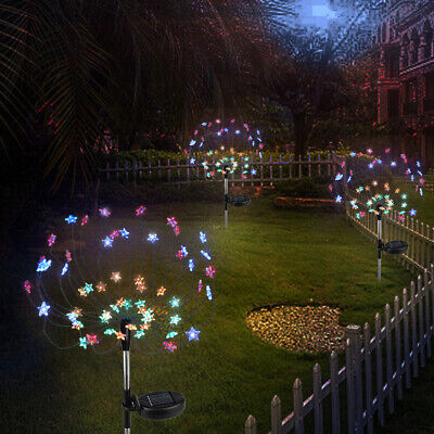 $ CDN33.11 • Buy 2x 90 LED Solar Powered Firework Lights Outdoor Lamp For Landscape Path Lawn