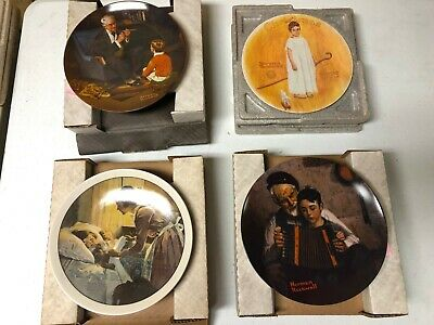 $ CDN519.02 • Buy Collectible Plates - Norman Rockwell - Lot Of 18 Plus Book And 4 Prints