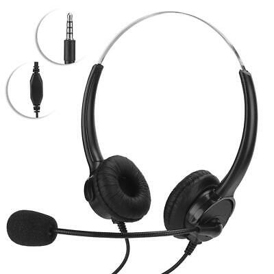 Wired Headset Tablet PC Phone Headphone 3.5mm Earphone MIC For Skype MSN Online • 13.43£