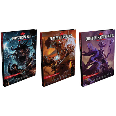 AU176.99 • Buy D&D Dungeons & Dragons Core Rulebook Gift Set 3 Books And Master Screen