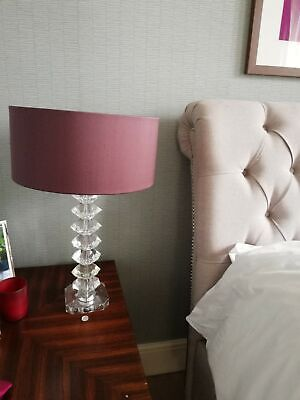 Set Of 2 Bedside Lamp Stands- Glass Without Lamp Shade-OP£190 • 100£