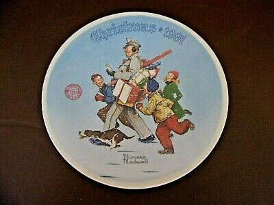 $ CDN10.04 • Buy Christmas 1991 Norman Rockwell Collector Plate  Santa's Helper