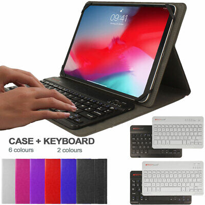Universal Leather Case & BT KEYBOARD For 7 8 10 10.1 10.2 10.5 11 Inch Tablets • 16.95£