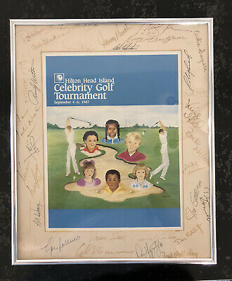 $1950 • Buy Neil Armstrong Signed With Co-signers 1987 Hilton Celebrity Golf Tournament