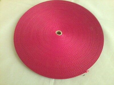 """$ CDN12.47 • Buy 1"""" RED POLY WEBBING, 50 Yards, Belt, Strap, PE, Craft, Sewing, NEW,USA Made"""