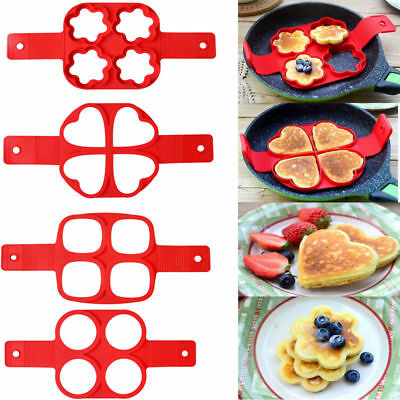 $8.99 • Buy Silicone Pancake Egg Mold Ring Fried Shaper Mould Kitchen Cooking Tool Non Stick