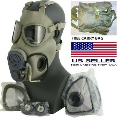 $49.99 • Buy Size 3 Large XL Full Face M10 NBC Gas Mask Respirator Military W/ Filters + Bag
