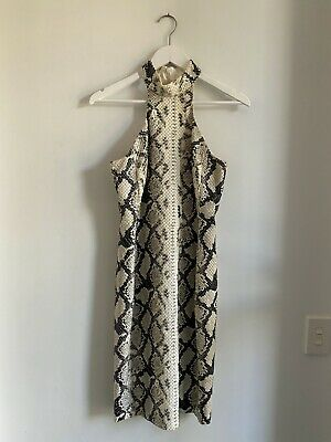 AU210 • Buy Carla Zampatti Snake Skin Dress - Size 6