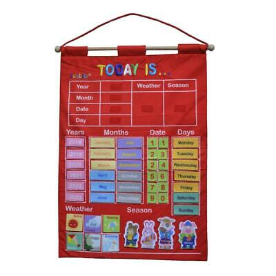 My Calendar And Weather Letter Fabric Wall Hanging Chart Kid Learning Poster • 15.37£