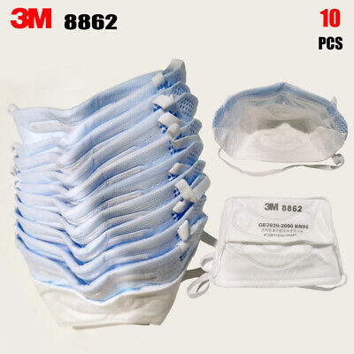 AU99.99 • Buy 10PCS 3M 8862 N95 KN95 P2 FFP2 Particulate Respirator Face Mask Headband