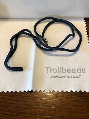 $34.99 • Buy Trollbeads Authentic Leather Bracelet Necklace Blue