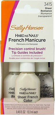 SALLY HANSEN Hard As Nails French Manicure Kit In 3415 Sheer Romance 4 Piece Set • 9.50£