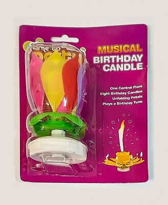 $ CDN7.43 • Buy New Mix Musical Lotus Flower Happy Birthday Candle Party Birthday Gift Present
