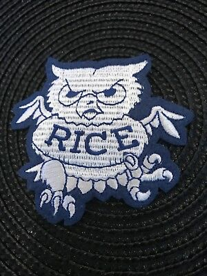$6.99 • Buy Rice University Rice Owls Vintage Embroidered Iron On Patch (NOS) 3  X 3  Nice