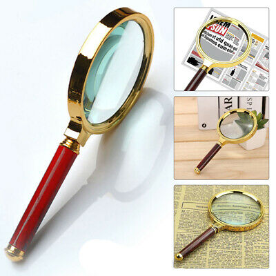 90mm Handheld 10X Magnifier Magnifying Glass Loupe Reading Jewelry Aid Large UK. • 4.99£