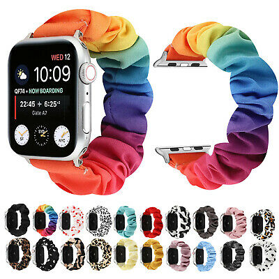 $ CDN12.70 • Buy Rainbow Floral Hair Band Strap For Apple Watch Series 6 5 4 3 2 1 Braclet Bangle