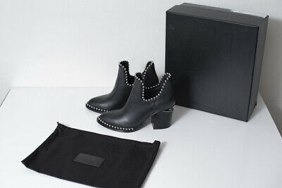AU450 • Buy Alexander Wang Gabi Cut Out Bootie With Rhodium Size 37