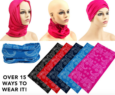 AU7.95 • Buy Multi Functional Tube Bandana Plain Pattern Paisley Camouflage Head Scarf