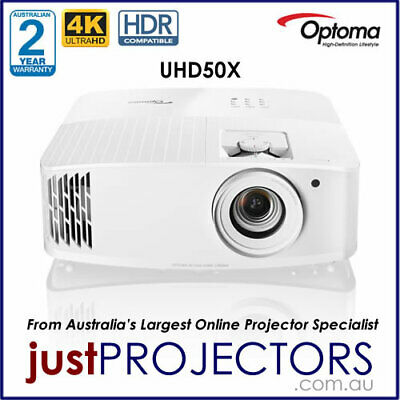 AU2699 • Buy Optoma UHD50X 4K Home Theatre Projector From Just Projectors. 2yr Warranty