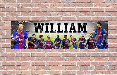 FC Barcelona 2020 Roster Personalized Poster Customized Banner W/ Frame Options • 21.16£