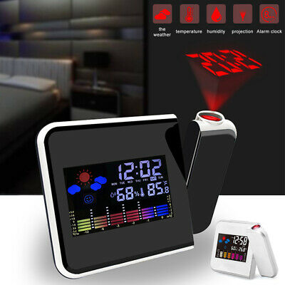 AU21.59 • Buy Smart Alarm Clock Digital LED Projection Time Temperature Projector LCD Display.