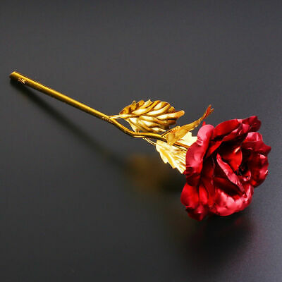 AU2.25 • Buy 24K Gold Foil Plated Rose Romantic Valentine's Day Gifts Flowers Without Box