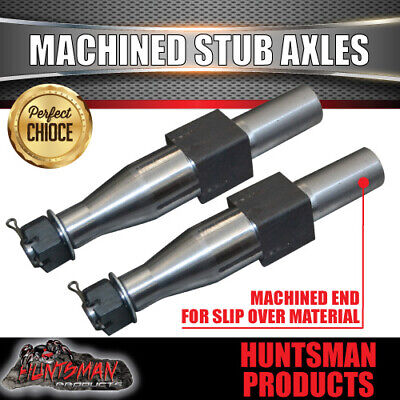 AU180 • Buy X2 2000kg Machined Trailer Stub Axles To Sleeve Into 50mm X 5mm RHS