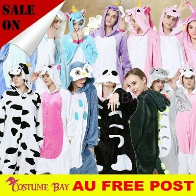 AU29.95 • Buy Animal Adult Kigurumi Skeleton Cosplay Unisex Sleepwear Pyjamas Onesies Costume