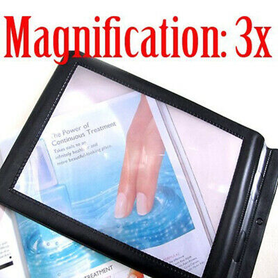 A4 Full Page Magnifier Sheet Magnifying Glass Reading Aid Lens 3X Big UK. • 3.17£