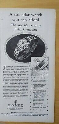 $ CDN44.02 • Buy Original 1954  ROLEX Oysterdate Watch Print Ad. Rolex For Women. Ephemera