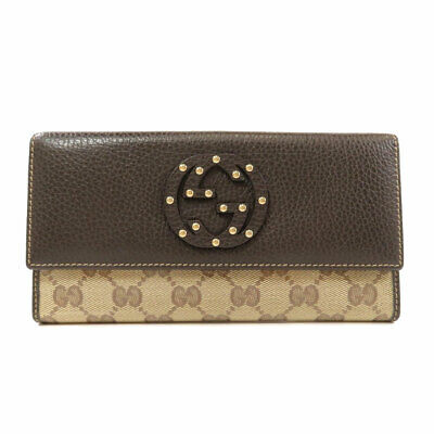 $282.15 • Buy GUCCI  231843 Long Wallet (with Coin Pocket) GG Pattern Coating Canvas Leather