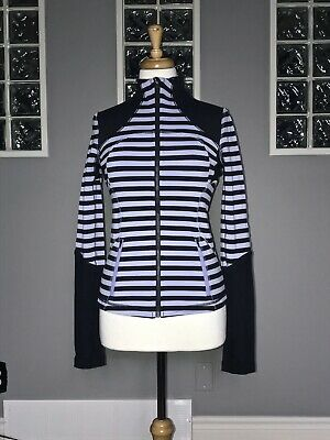 $ CDN68 • Buy Lululemon Forme Jacket 6 Sea Stripe Polar Haze Vguc Slim Fit