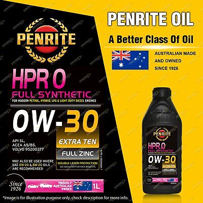 AU31.95 • Buy Penrite Full Synthetic HPR 0 SAE 0W-30 Engine Oil Premium Quality 1L