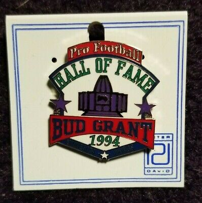 $20 • Buy Bud Grant HOF Induction Pin (sold At Pro Football HOF Only)