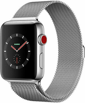 $ CDN412.74 • Buy Apple Watch Series 3 Stainless Steel GPS + Cellullar 42mm Silver Milanese Band