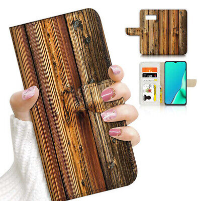 AU12.99 • Buy ( For Samsung S8 ) Wallet Flip Case Cover PB23489 Wood Timber