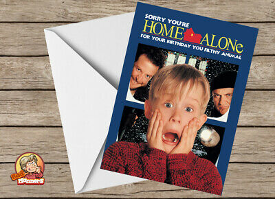 Funny Joke Amusing Home Alone Birthday Card: Macaulay Culkin Marv Kevin Harry • 3.29£