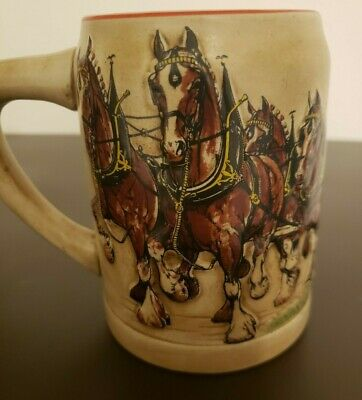 $ CDN99.95 • Buy Budweiser Clydesdales 1980 – First Edition -  Holiday Beer Stein - Rare