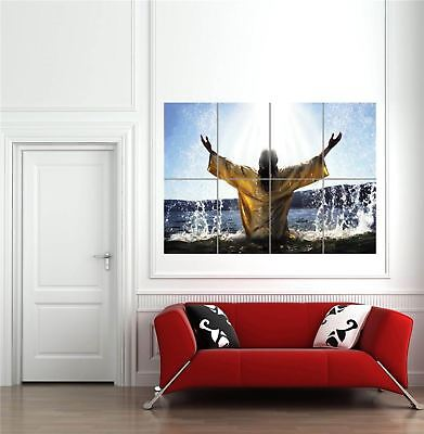 £14.95 • Buy Baptism Jesus Religion God Giant Wall Art New Poster Print Picture