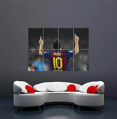 Lionel Messi Goal Celebration Fc Barcelona Giant New Art Print Poster Oz302 • 14.75£