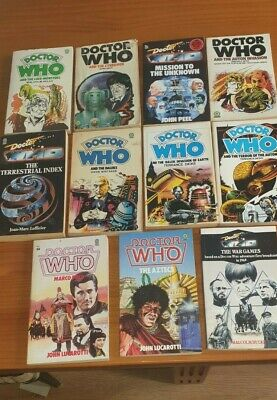 Collection Of 11 Doctor Who Target Paper Back Edition Books / 1980s Some Unread • 38.99£
