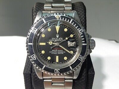 $ CDN45482.93 • Buy ROLEX 1680 RED SUBMARINER FAP 1974 Peruvian Air Force S/Steel 40mm! Very Nice!