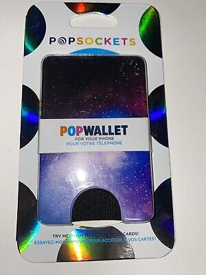 AU21.42 • Buy PopSockets Cell Phone POPWALLET Card Holder PopSocket Space Galaxy