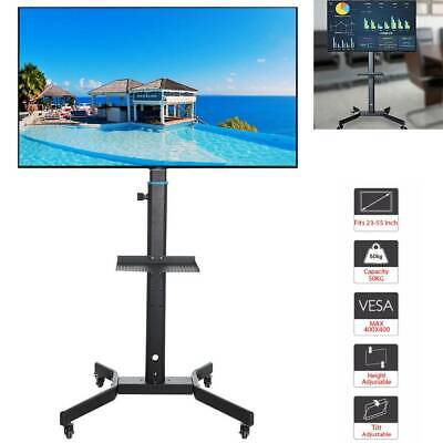 £46.99 • Buy Mobile TV Cart Floor Stand Mount Home Display Trolley For 23 -55  /LCD/LED