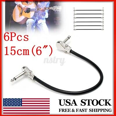 $ CDN27.59 • Buy 6Pcs 15cm / 6  Guitar Effect Pedal Board Patch Cable Cord With Right Angle Plug